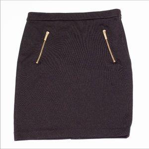 Michael Kors Zipper Chocolate Skirt size small